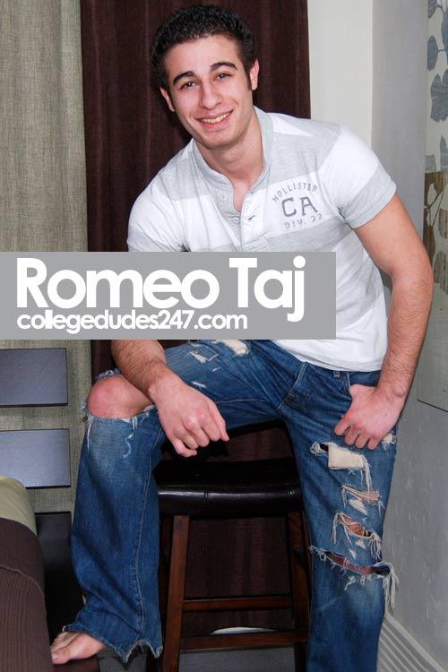 Romeo Taj Busts A Nut at CollegeDudes247