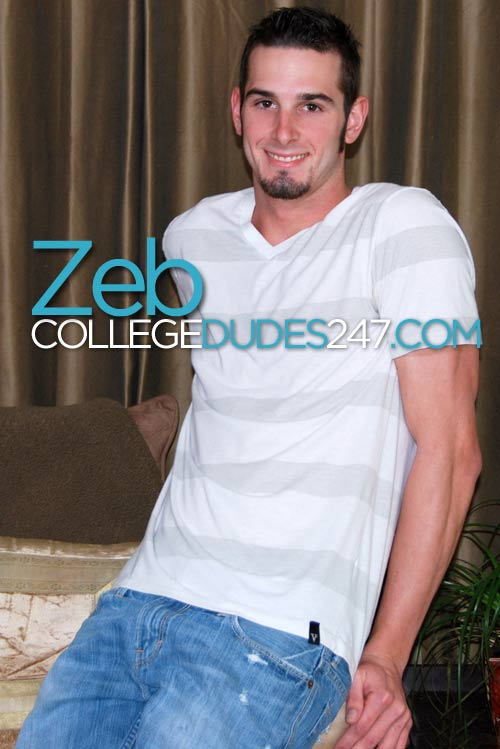 Zeb Truman Busts a Nut at CollegeDudes247