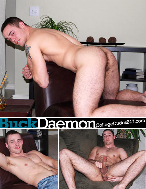Buck Daemon Busts A Nut at CollegeDudes247