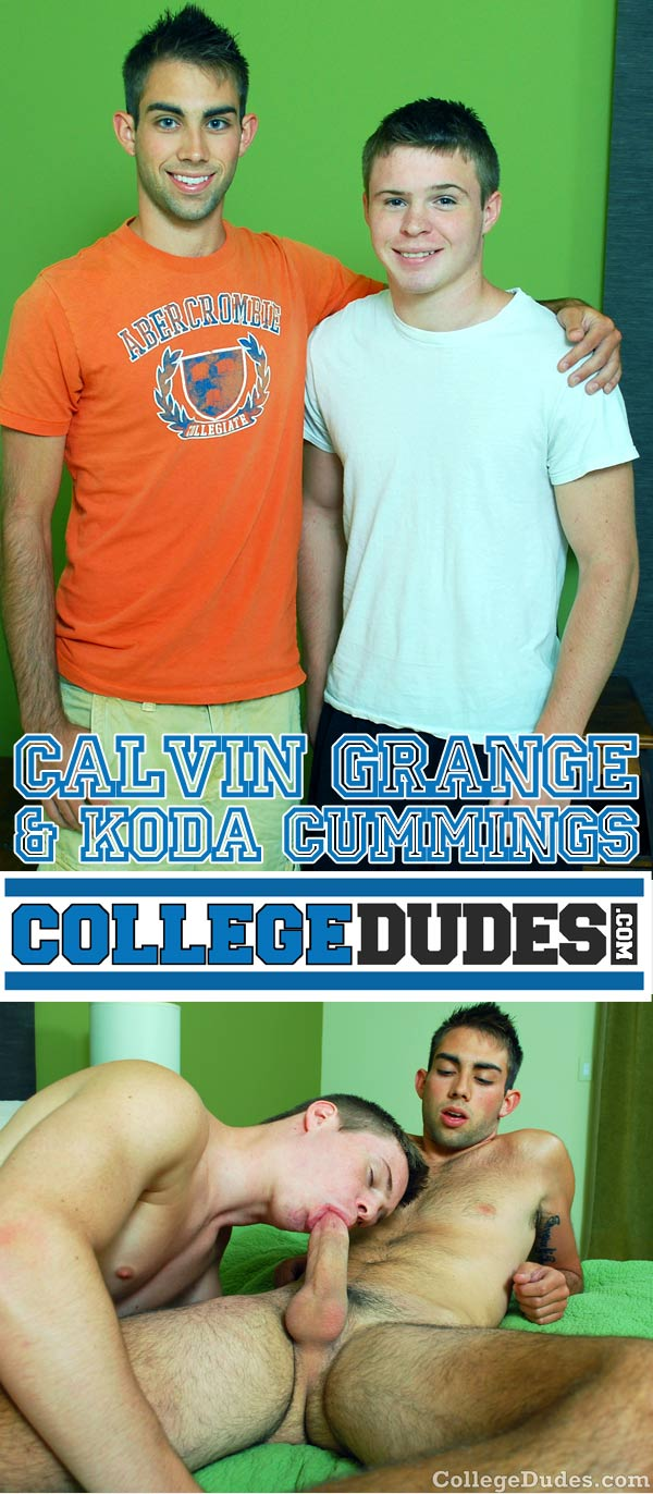 Calvin Grange & Koda Cummings at CollegeDudes.com