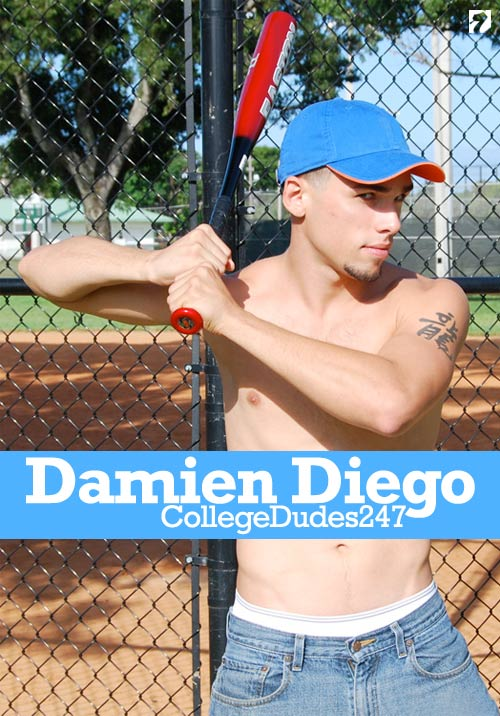 Damien Diego Busts A Nut at CollegeDudes247