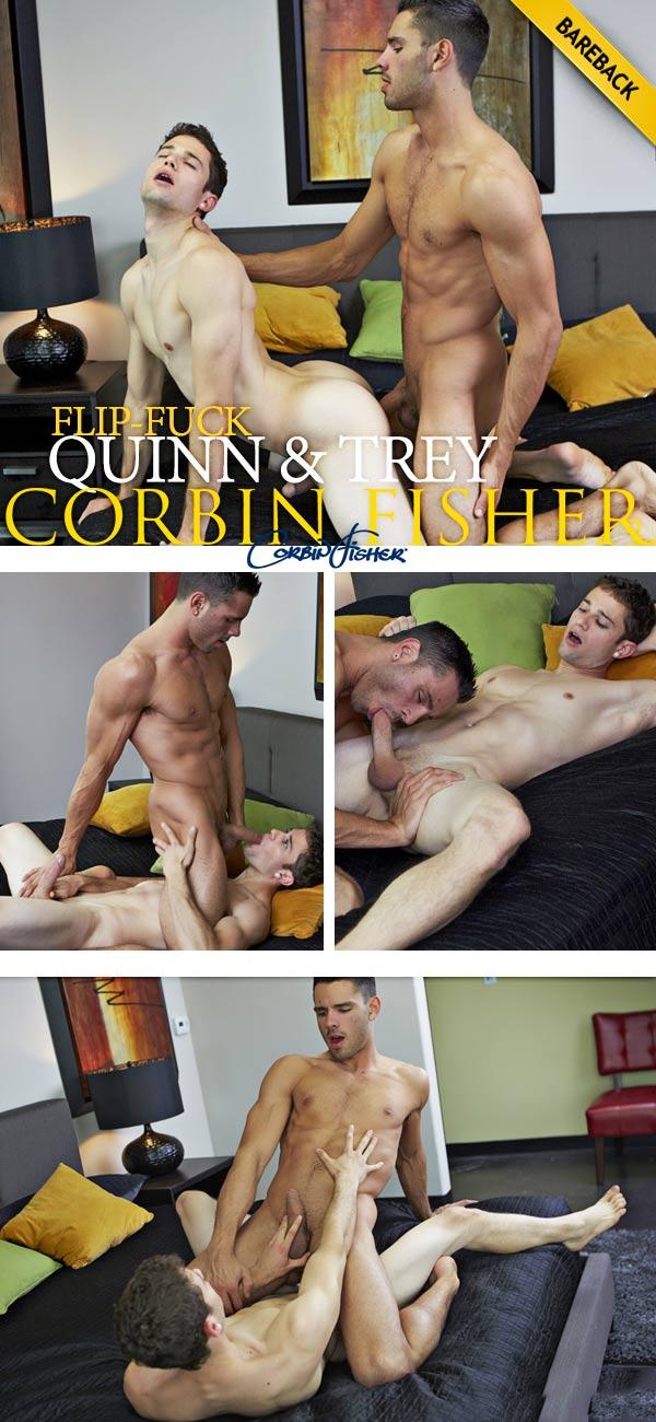 Quinn & Trey's Bareback Flip-Fuck at CorbinFisher