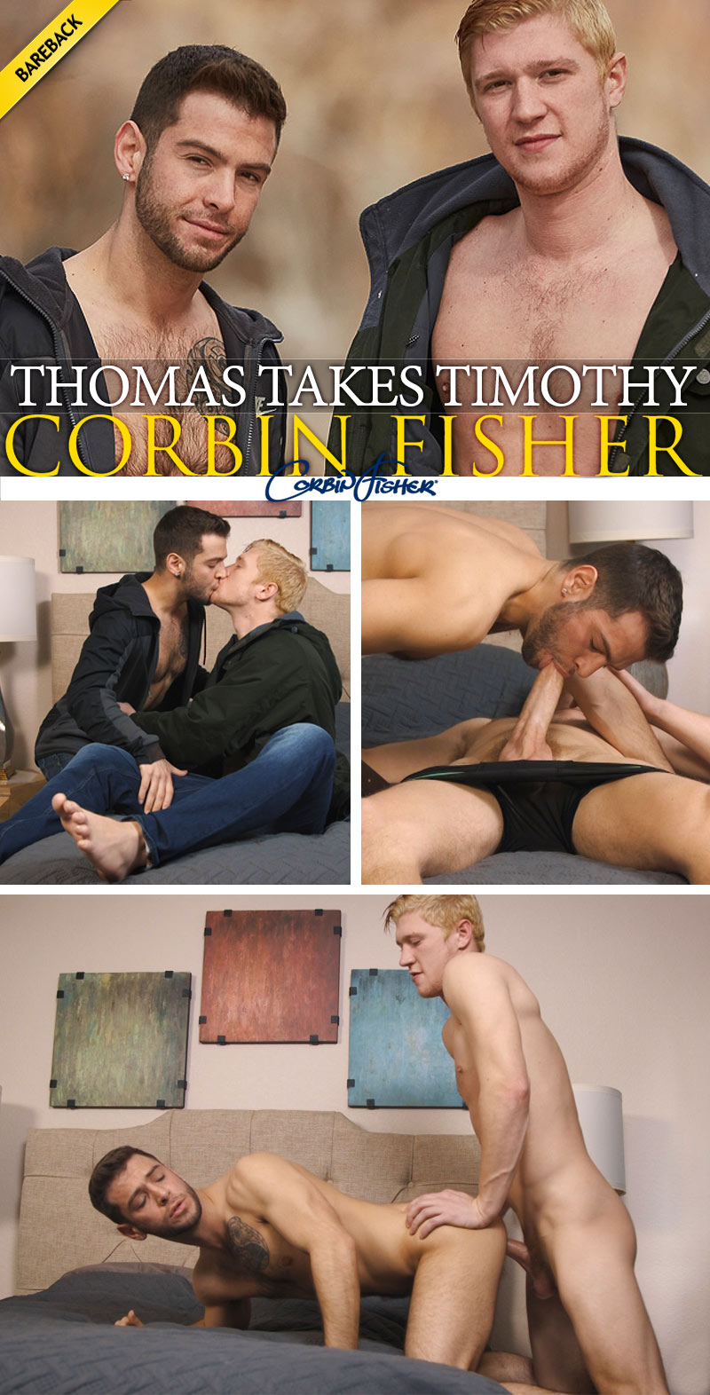 Thomas Takes Timothy (Bareback) at CorbinFisher