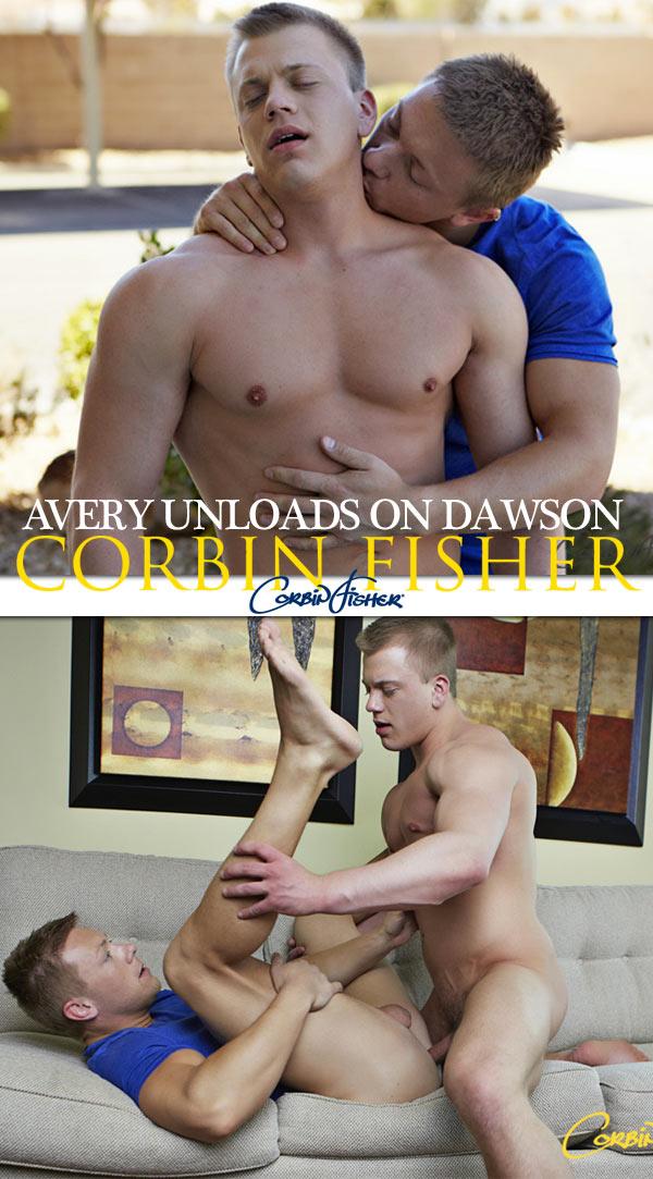 Avery Unloads on Dawson (Bareback) at CorbinFisher