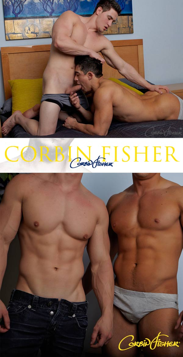 Sloan Takes Cain's Load at CorbinFisher
