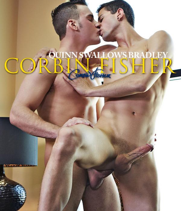 Quinn Swallows Bradley (Bareback) at CorbinFisher