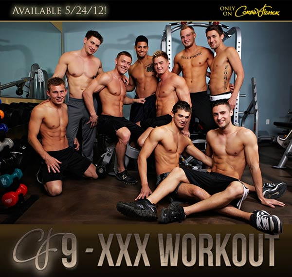 9-Man XXX Workout Orgy (Coming 5/24/12) at CorbinFisher