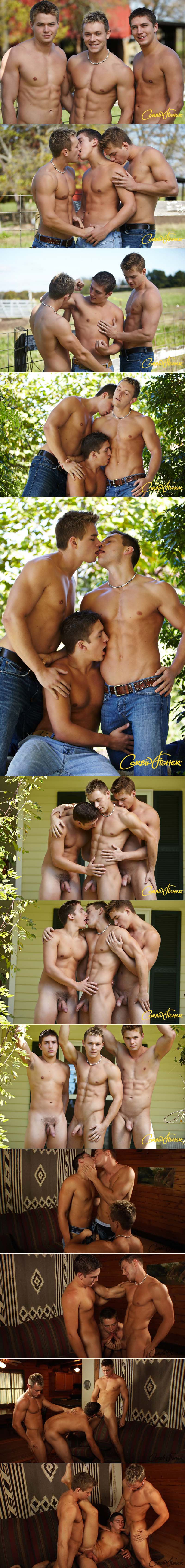 Elijah Takes On Two (Dawson And Connor Stuff Elijah) at CorbinFisher