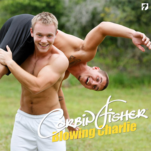 Blowing Charlie at CorbinFisher