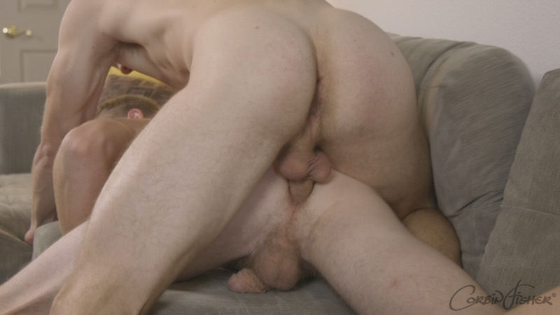 Calan Unloads On Henry (Bareback) at CorbinFisher