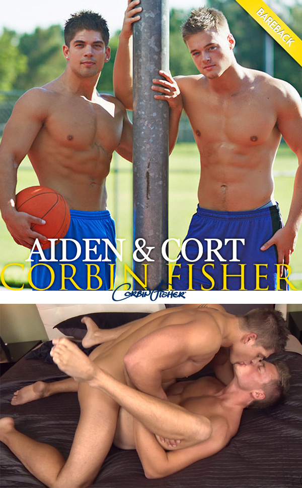 Aiden Feeds Cort (Bareback) at CorbinFisher