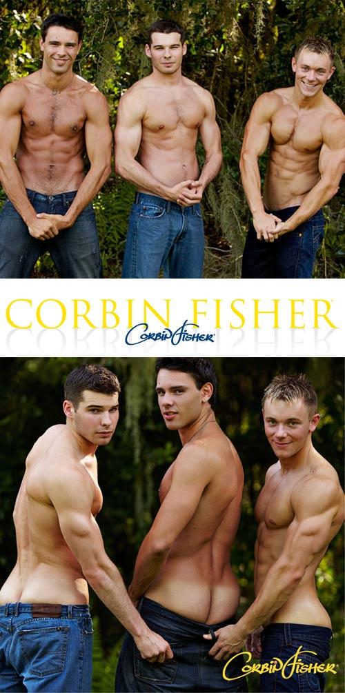 Dawson & Ethan Tag Trey at CorbinFisher