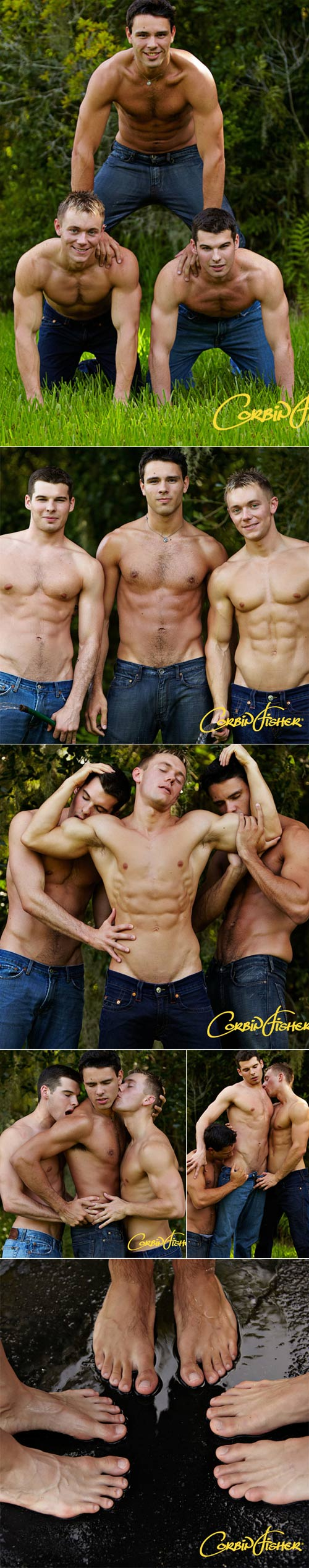 Dawson & Ethan Tag Trey at CorbinFisher
