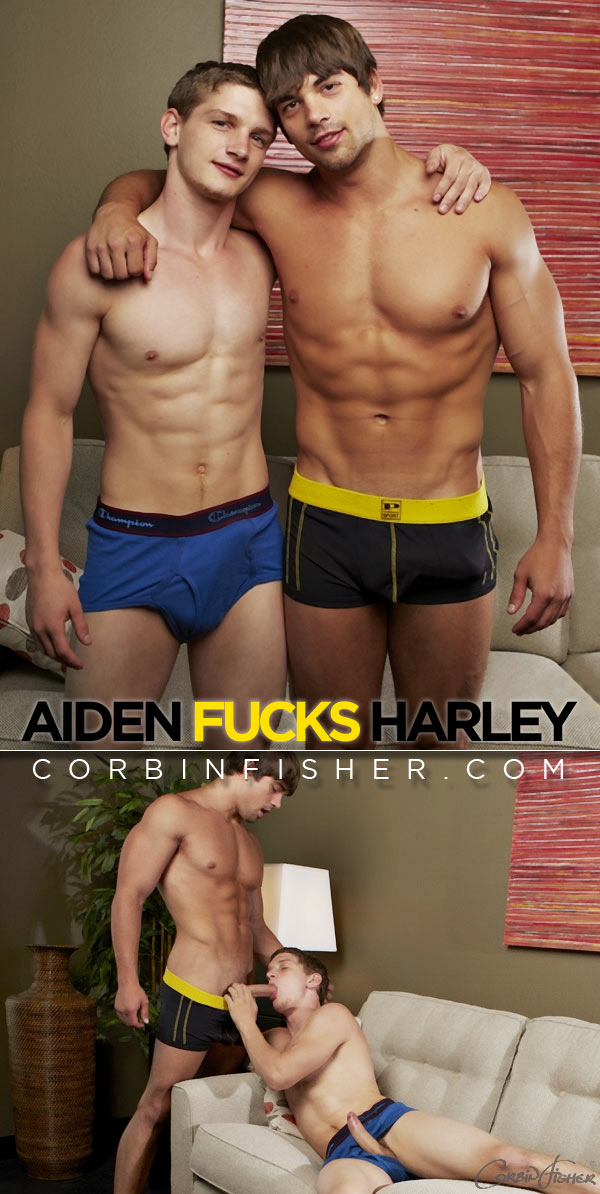 Aiden Fucks Harley (Bareback) at CorbinFisher