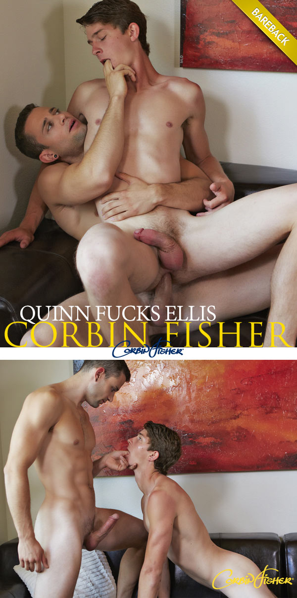 Quinn Fucks Ellis (Bareback) at CorbinFisher