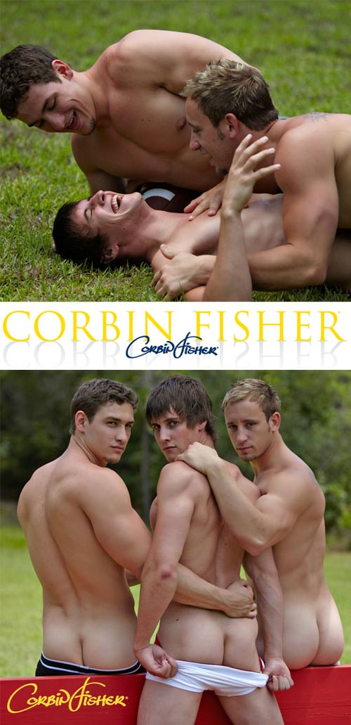 Lucas & Cain Tag Travis at CorbinFisher