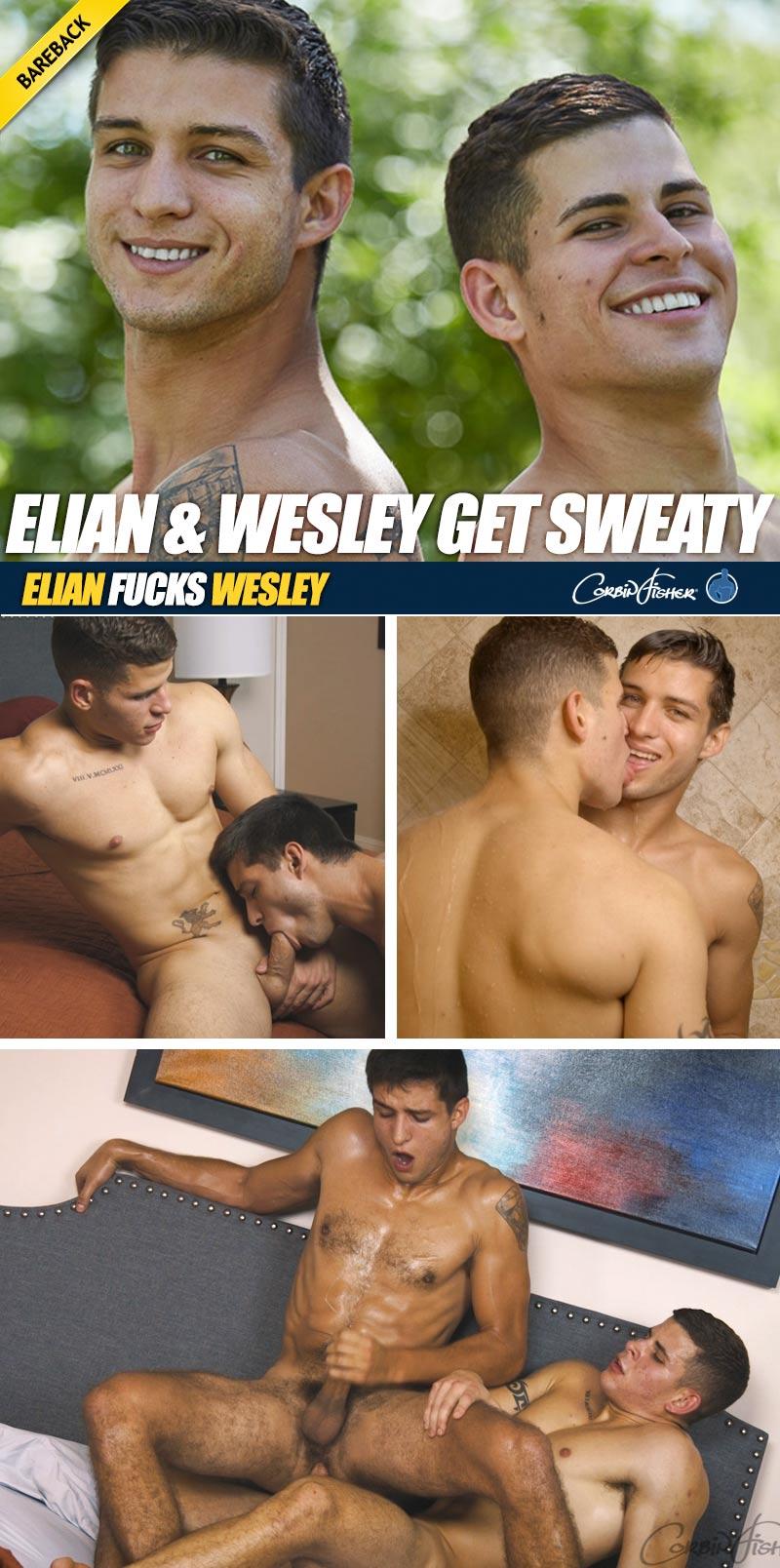 Elian & Wesley Get Sweaty (Bareback) at CorbinFisher