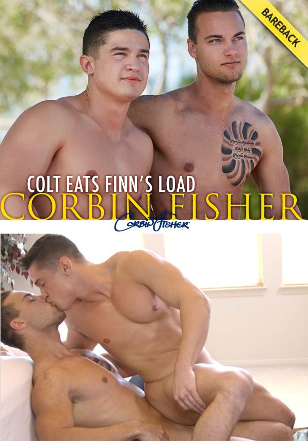 Colt Eats Finn's Load (Bareback) at CorbinFisher