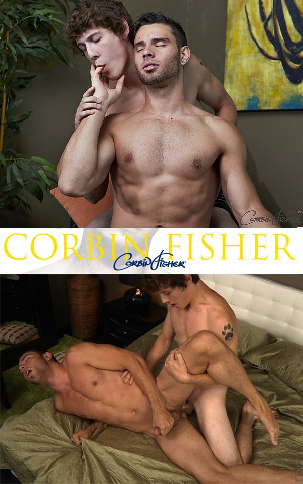 Trey Takes Chandler's Load (Bareback) at CorbinFisher