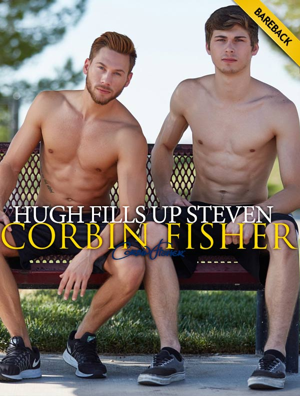 Hugh Fills Up Steven (Bareback) at CorbinFisher