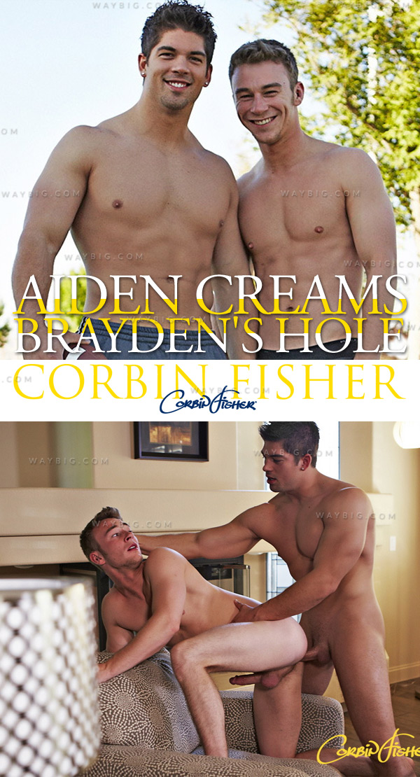 Aiden Creams Brayden's Hole (Bareback) at CorbinFisher