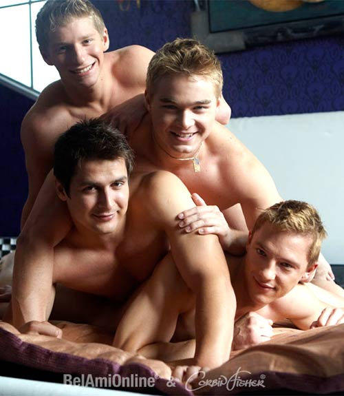 Connor, Brandon, Josh & Sascha at CorbinFisher