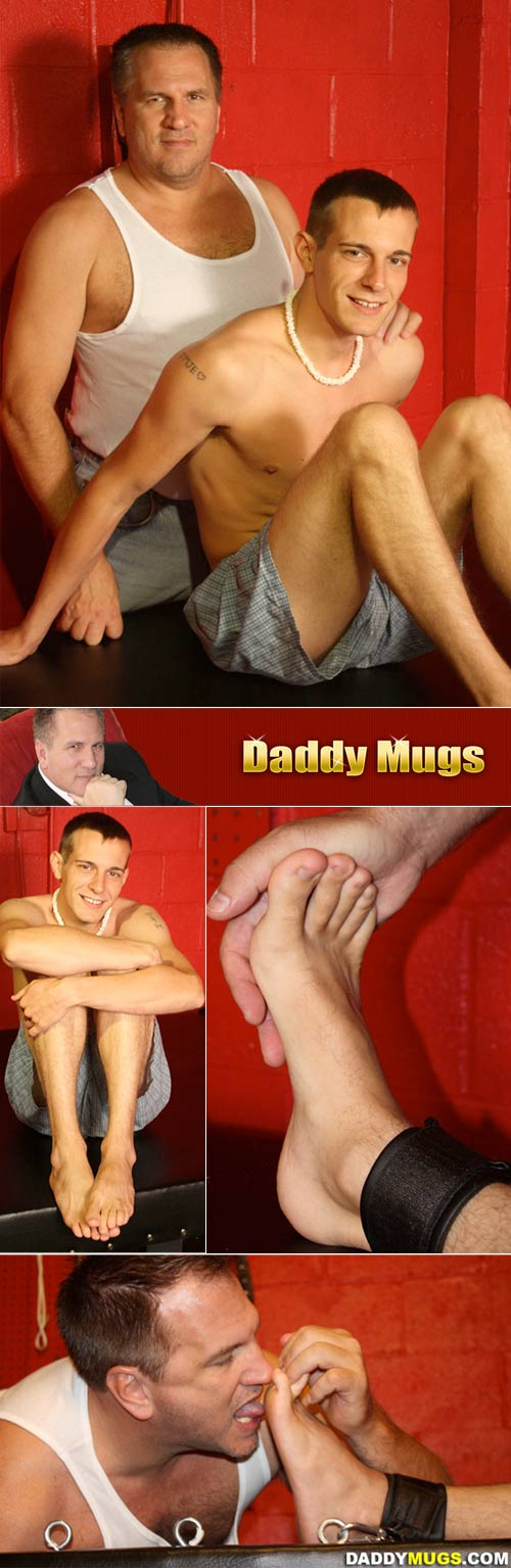 Daddy Mugs Tickles Tommy at DaddyMugs