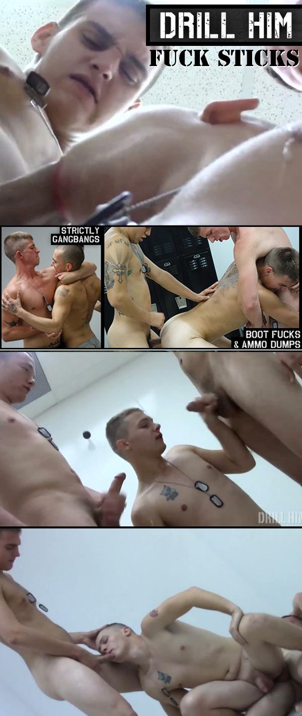 Fuck Sticks (Bareback) at Drill Him!