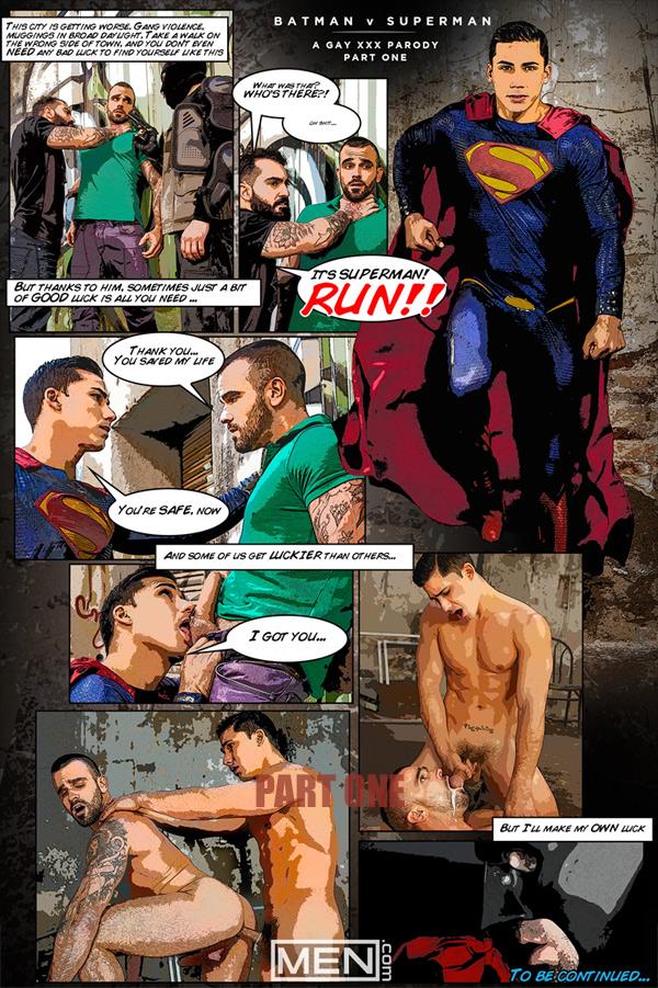 Batman Vs. Superman 'A Gay XXX Parody' (Topher DiMaggio Fucks Damien Crosse) at Men.com