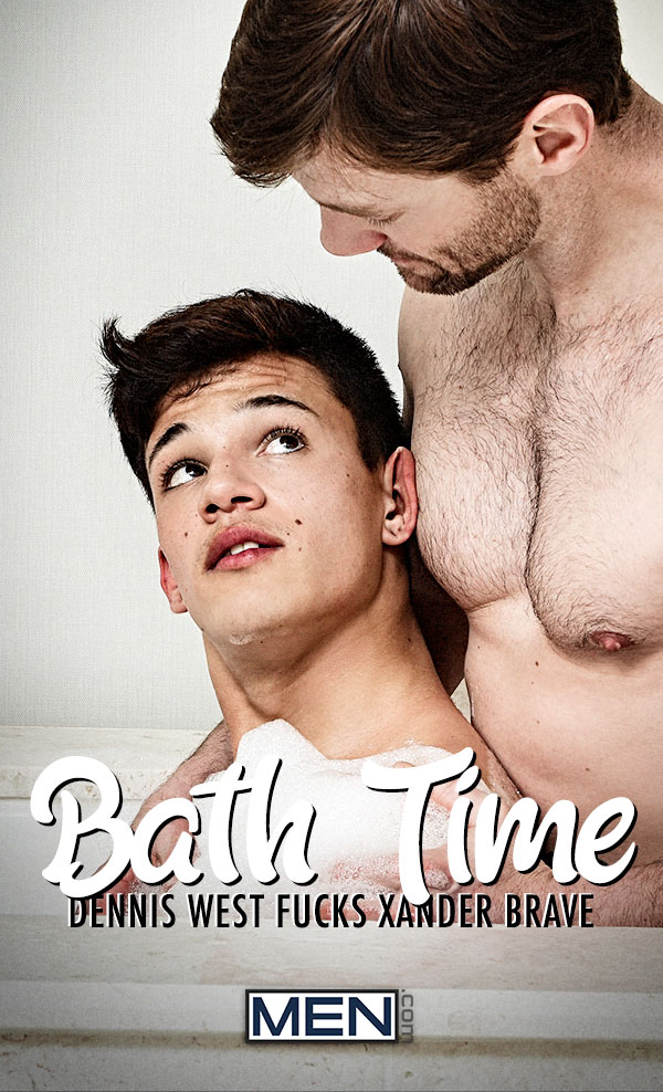 Bath Time (Dennis West Fucks Xander Brave) at Drill My Hole