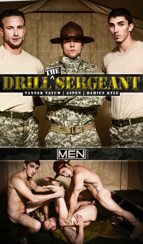 Drill The Sergeant (Aspen, Damien Kyle and Tanner Tatum) at Drill My Hole