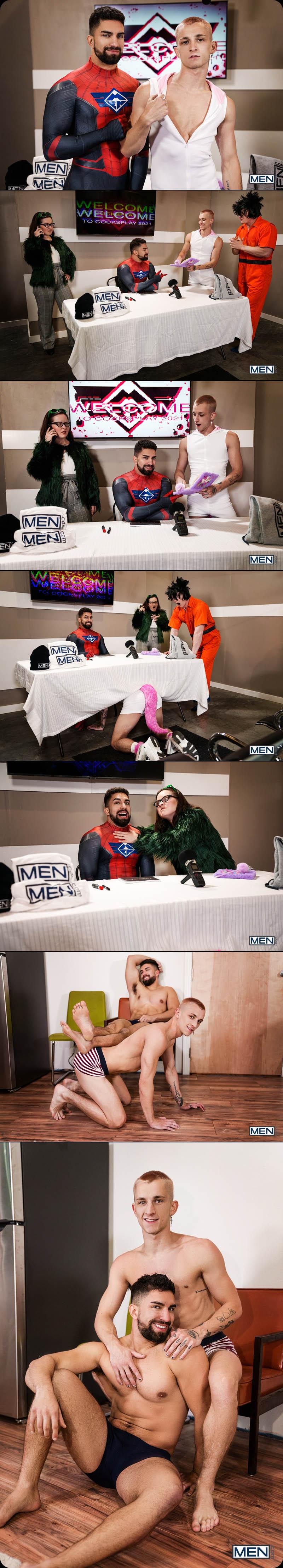 Cocksplay, Part 1 (Superhero-Suited Nick LA Fucks Cosplay Fan Theo Brady) at MEN.com