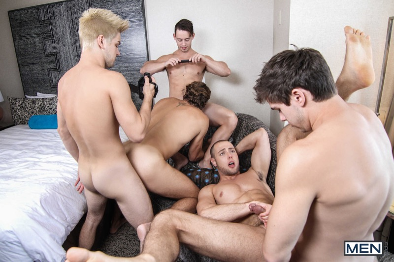Pop Star: A Gay XXX Parody (Johnny Rapid, Will Braun, Tobias, Wesley Woods & Brendan Phillips) (Part 3) at Drill My Hole