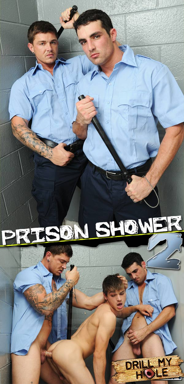 Prison Shower 2 (Johnny Rapid, Sebastian Young & Jack King) at Drill My Hole