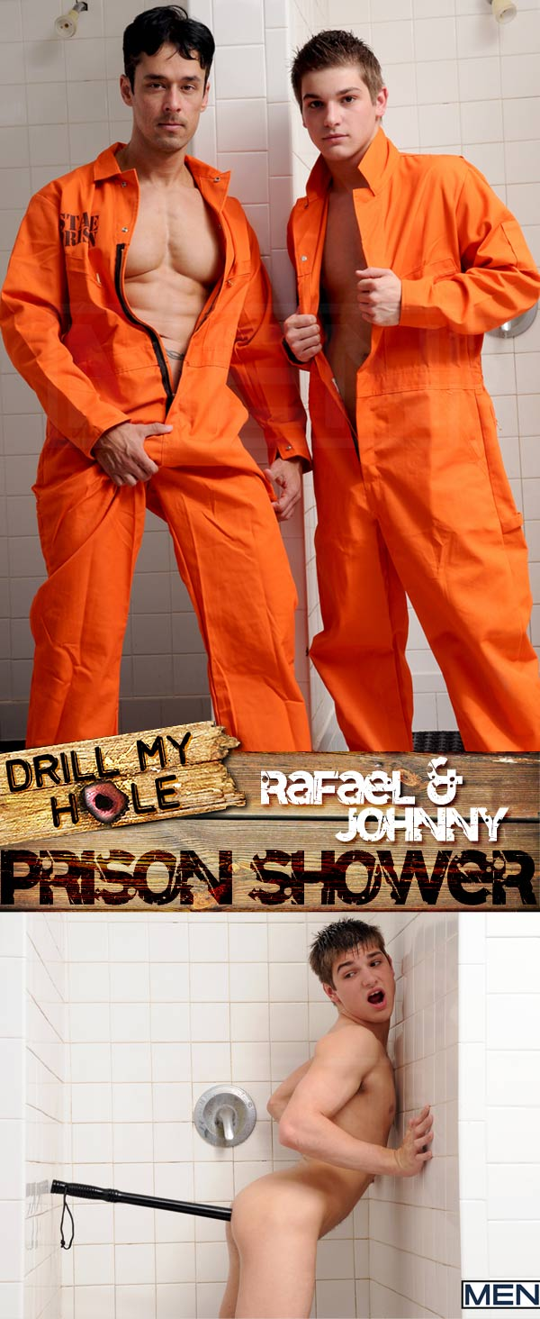 Prison Shower (Rafael Alencar & Johnny Rapid) at Drill My Hole