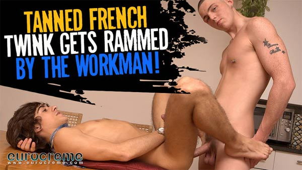 Leo Marco & McKenzie Walker (Tanned French Twink Gets Rammed) at EuroCreme