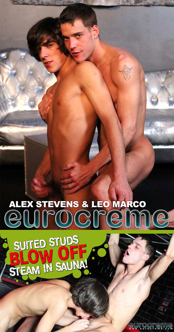 Alex Stevens & Leo Marco (Suited Studs Blow Off Steam) at EuroCreme