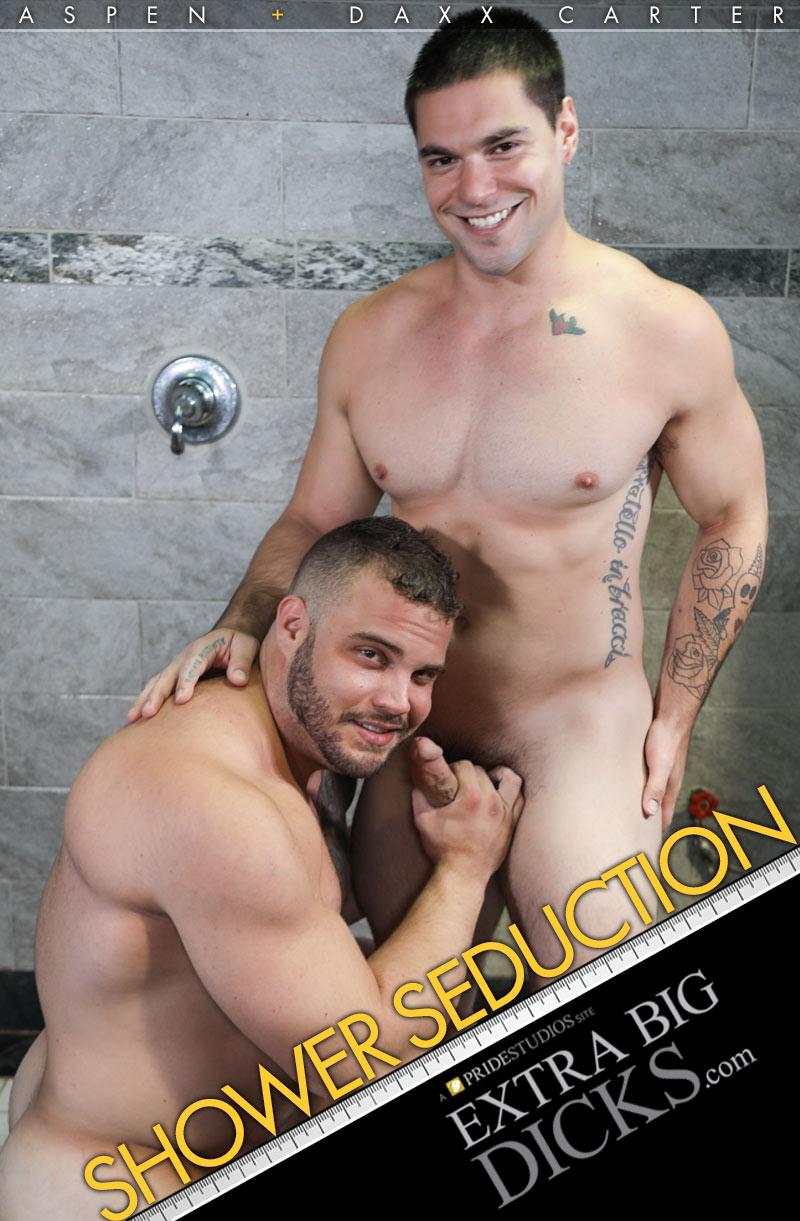 Shower Seduction (Aspen Fucks Daxx Carter) at ExtraBigDicks.com
