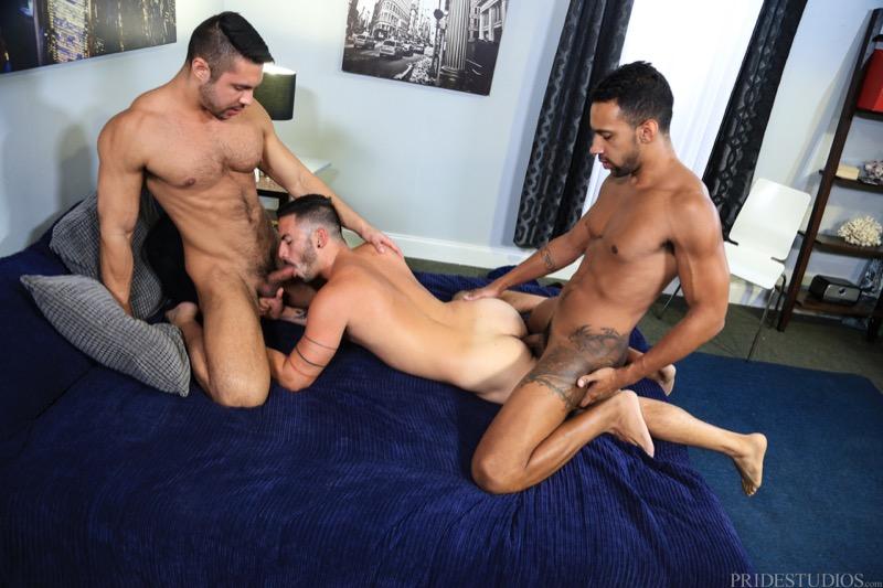 Surprise Big Dick Threeway (Seth Santoro, Jay Alexander and Cesar Rossi) at ExtraBigDicks.com