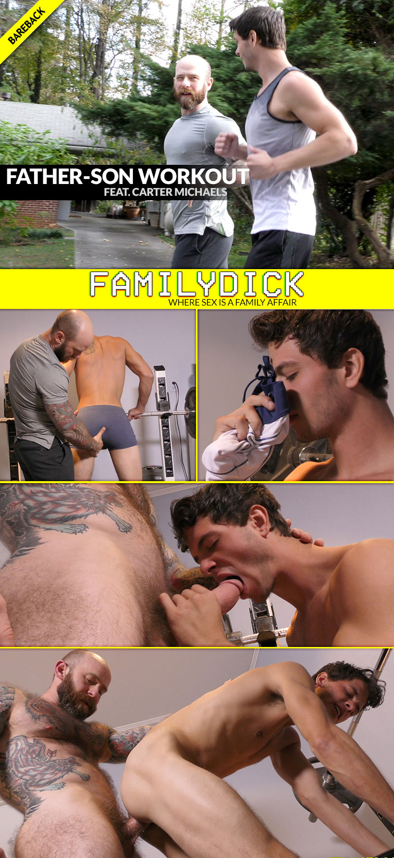 Father-Son Workout (feat. Carter Michaels) at FamilyDick
