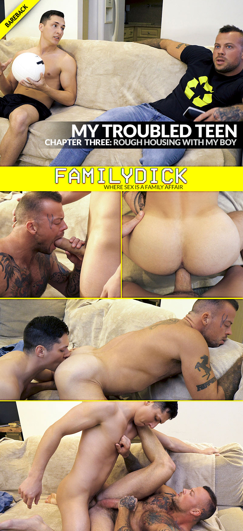 My Troubled Teen: ROUGHHOUSING WITH MY BOY (with Sean Duran and Tristan Duran) at FamilyDick