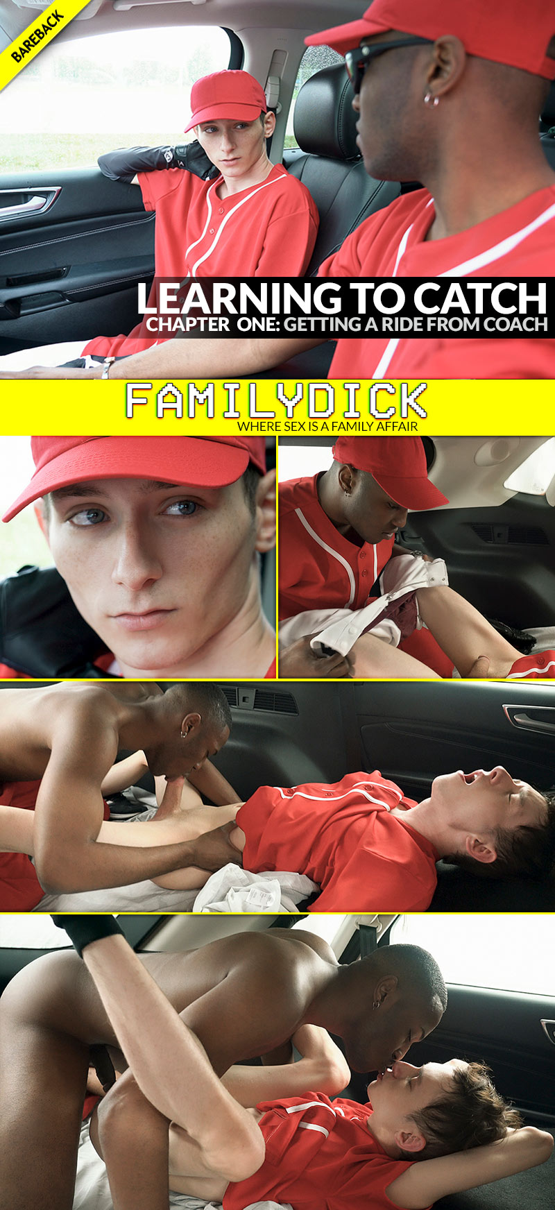 Learning To Catch, Chapter 1: Getting A Ride From Coach (with Ethan Thomson and Justin Stone) at FamilyDick