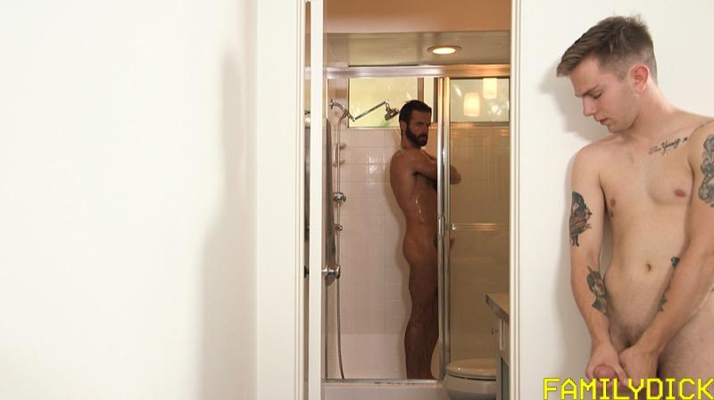 Mr Stevenson's Boy, Chapter 1: Jerk Bathroom (Brendan Roberts (Stepdad) and Logan Roberts (Stepson)) at FamilyDick