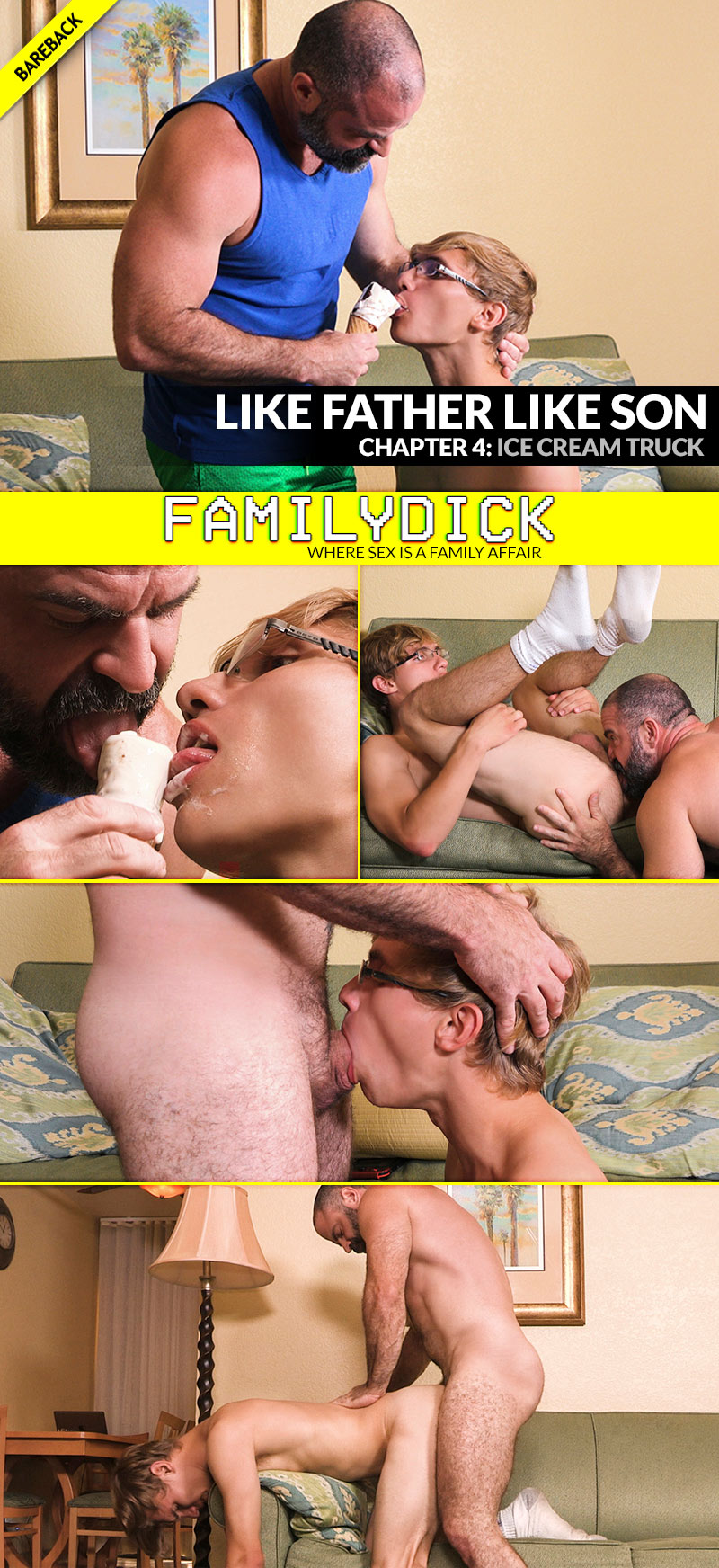 Like Father Like Son, Chapter 4: ICE CREAM TRUCK (with Bishop Angus and Barron Angus) at FamilyDick