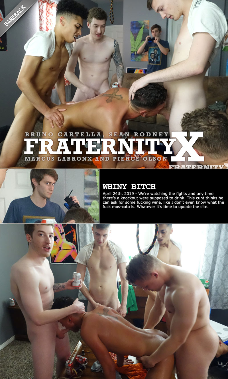 WHINY BITCH (with Bruno Cartella, Sean Rodney, Marcus LaBronx and Pierce Olson) at FraternityX