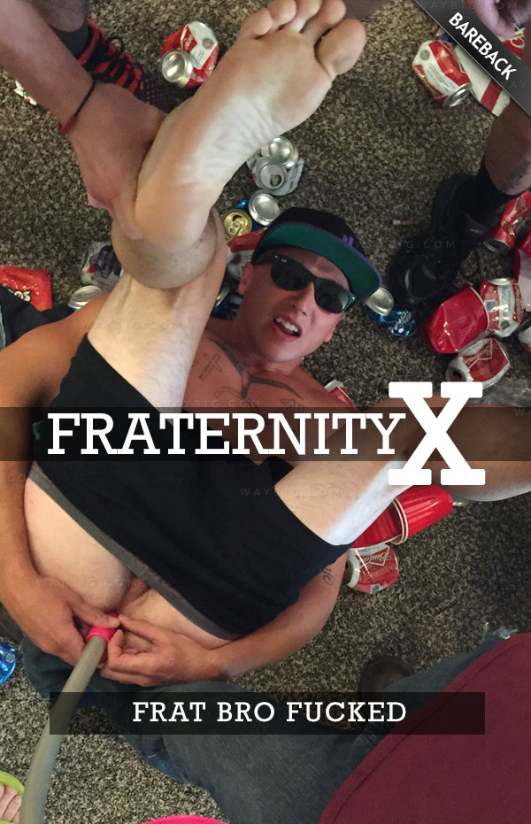 Frat Bro Fucked (Bareback) at FraternityX
