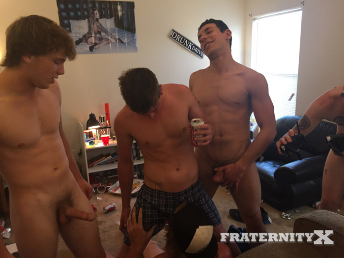 Pinned Down and Pounded (Bareback) it at FraternityX