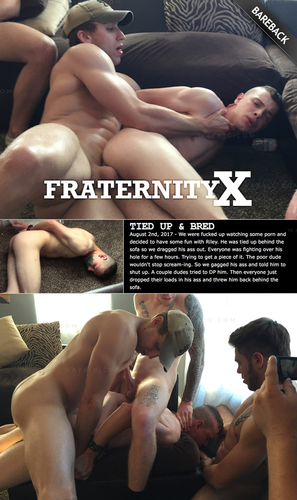 TIED UP AND BRED (Bareback) at FraternityX