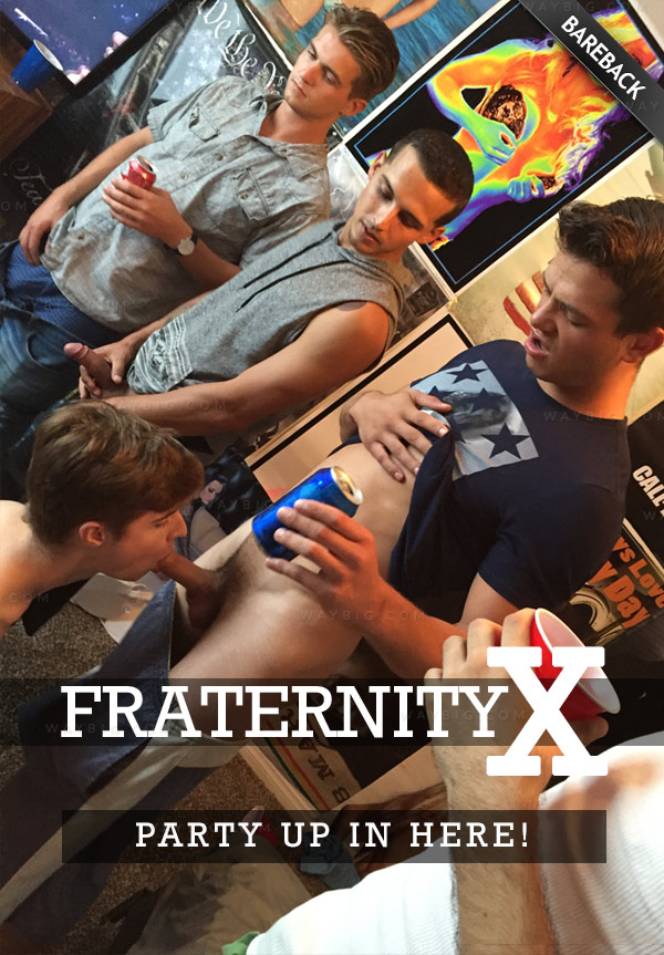 PARTY UP IN HERE (Seth Knight, Dean, Bentley, Carter, Travis & Rocky) (Bareback) at FraternityX