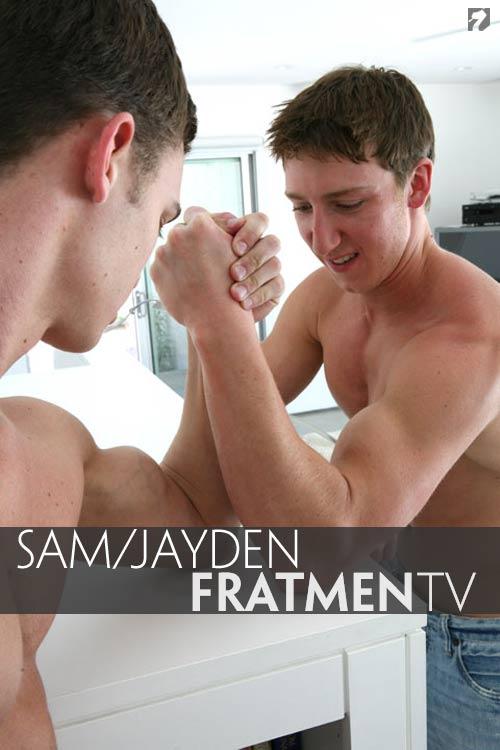 Sam & Jayden at Fratmen.tv